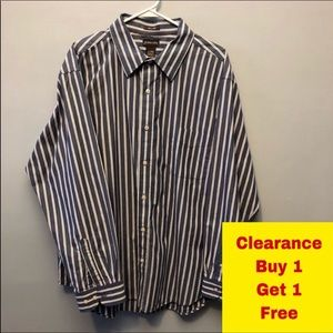 "St John's Bay Button Down Shirt Neck 18"" XL"